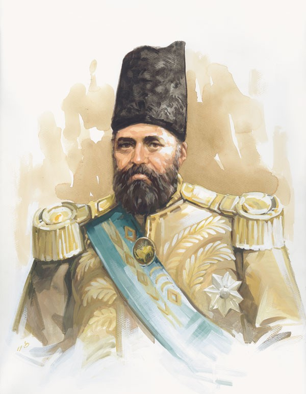 امیرکبیر در لباس سرتیپی